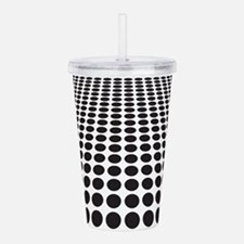 Black and White Optical Illusion Dots Pattern Acry
