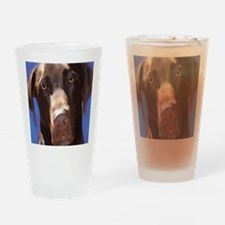 Cute Goldendoodle kids Drinking Glass