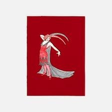 Scarlet Flapper 5'x7'Area Rug