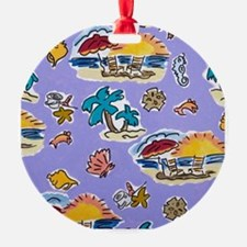 Pets At the Beach Ornament