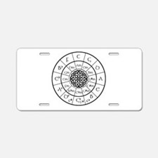 Celtic-blk Circle of 5ths Aluminum License Plate