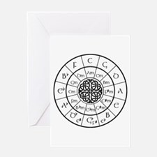 Celtic-blk Circle of 5ths Greeting Cards