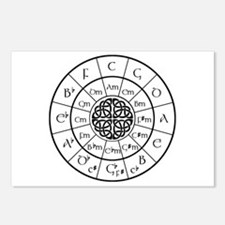 Celtic-blk Circle of 5ths Postcards (Package of 8)