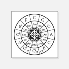 Celtic-blk Circle of 5ths Sticker