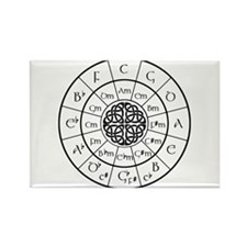Celtic-blk Circle of 5ths Magnets