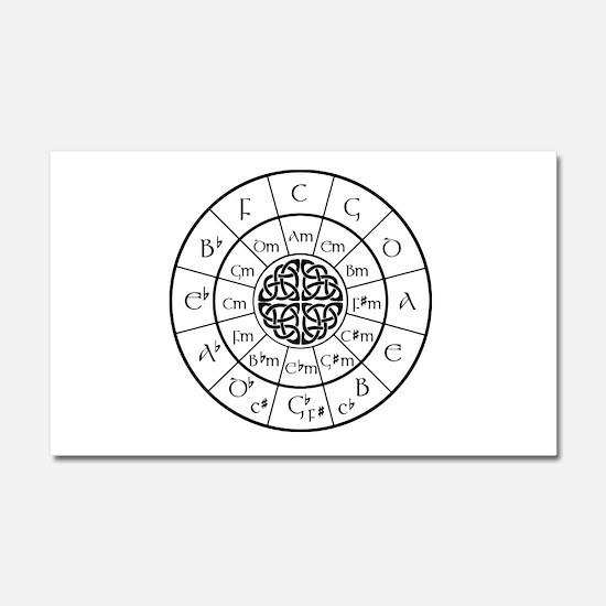 Celtic-blk Circle of 5ths Car Magnet 20 x 12