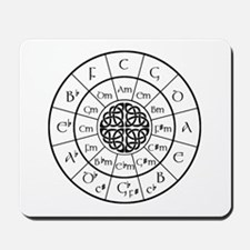 Celtic-blk Circle of 5ths Mousepad