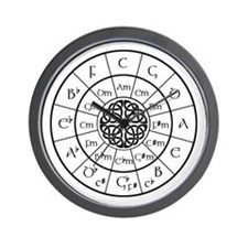 Celtic-blk Circle of 5ths Wall Clock