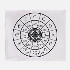 Celtic-blk Circle of 5ths Throw Blanket