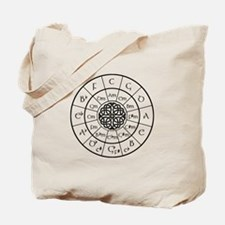 Celtic-blk Circle of 5ths Tote Bag