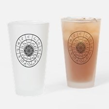 Celtic-blk Circle of 5ths Drinking Glass