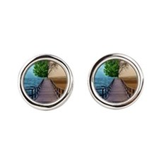waterdesert Round Cufflinks