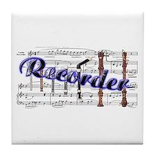 Recorder Tile Coaster