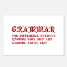 grammar-difference-shit-pre-red Postcards (Package
