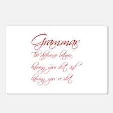grammar-difference-shit-scr-red Postcards (Package