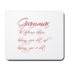grammar-difference-shit-scr-red Mousepad