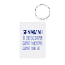 grammar-difference-shit-UNIV-BLUE Keychains
