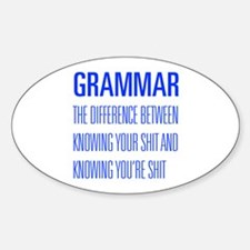 grammar-difference-shit-UNIV-BLUE Decal
