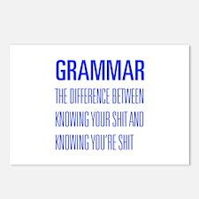 grammar-difference-shit-UNIV-BLUE Postcards (Packa