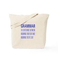 grammar-difference-shit-UNIV-BLUE Tote Bag