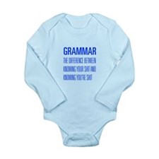 grammar-difference-shit-UNIV-BLUE Body Suit