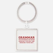 grammar-difference-shit-VAR-RED Keychains