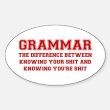 grammar-difference-shit-VAR-RED Decal