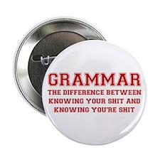 "grammar-difference-shit-VAR-RED 2.25"" Button"