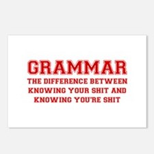 grammar-difference-shit-VAR-RED Postcards (Package