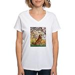 Spring & Golden (#12) Women's V-Neck T-Shirt