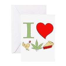 I Love Chicken Pot Pie Greeting Cards