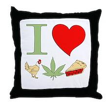 I Love Chicken Pot Pie Throw Pillow