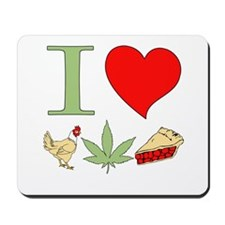 I Love Chicken Pot Pie Mousepad