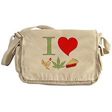 I Love Chicken Pot Pie Messenger Bag