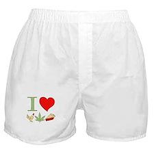 I Love Chicken Pot Pie Boxer Shorts