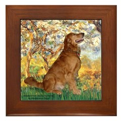 Spring & Golden (#12) Framed Tile