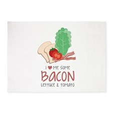 Love Some Bacon 5'x7'Area Rug