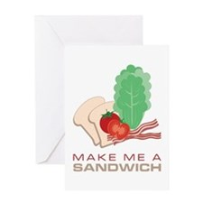 Make A Sandwich Greeting Cards