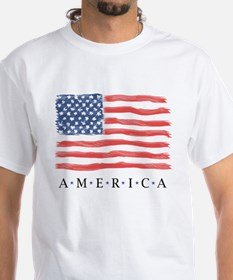 American Flag / front & back designed - T-Shirt