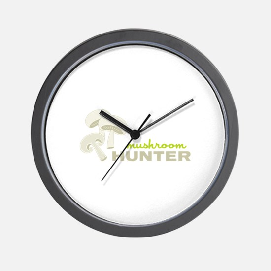 Mushroom Hunter Wall Clock