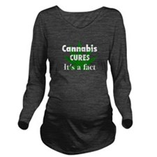 Cute Weeds Long Sleeve Maternity T-Shirt