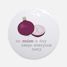 An Onion a Day Ornament (Round)