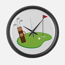 Golf Green Large Wall Clock