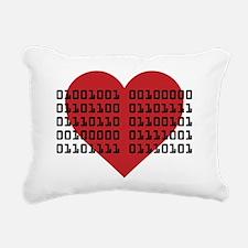 I Love You in Binary Cod Rectangular Canvas Pillow