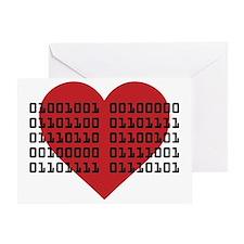 I Love You in Binary Code Greeting Card