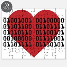 I Love You in Binary Code Puzzle