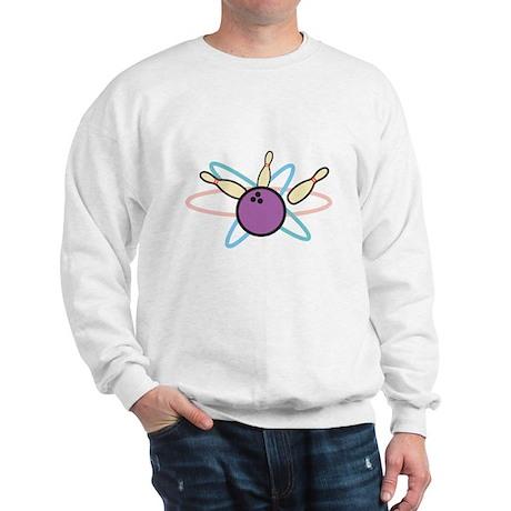Retro Bowling Strike Design Sweatshirt
