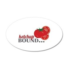 Ketchup Bound Tomato Wall Decal