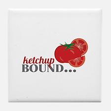Ketchup Bound Tomato Tile Coaster