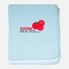 Ketchup Bound Tomato baby blanket